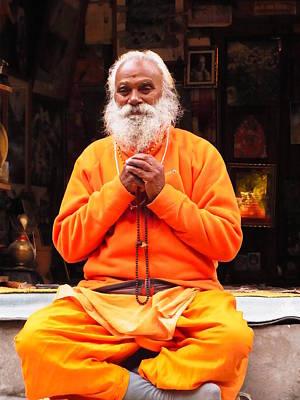 Swami Sundaranand At Tapovan Kutir 4 Art Print