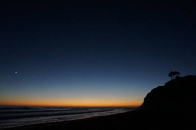 Photograph - Swami's Beach By Night by Julia Ivanovna Willhite
