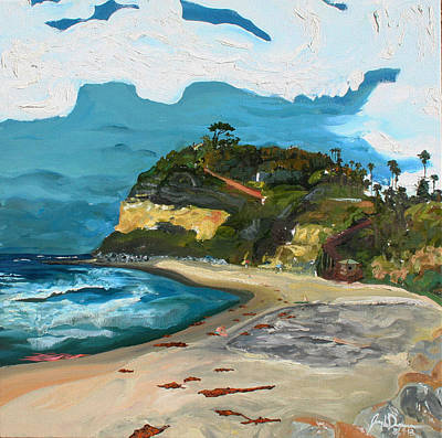 Swami's Beach Art Print by Joseph Demaree