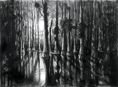 Swamp At Night Art Print