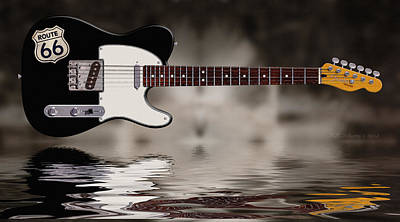 Tele Photograph - Swamp Blues Black by WB Johnston