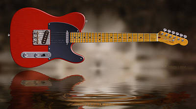 Tele Photograph - Swamp Blues Red by WB Johnston