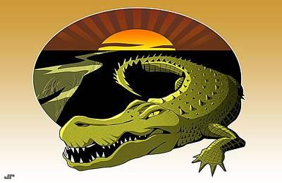 Swamp Gator Art Print