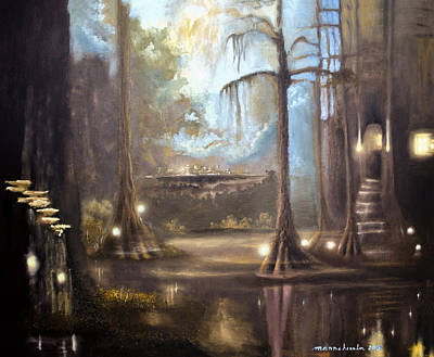 Spanish Moss Painting - Swamp Life by Melissa Herrin