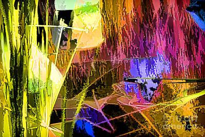 Digital Art - swamp Lights by Georgianne Giese