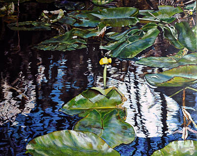Painting - Swamp Lilly by Dottie Branchreeves