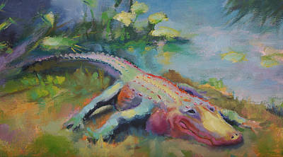 Painting - Swamp Queen Alligator by Carol Jo Smidt