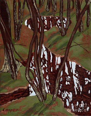 Painting - Swamp Reflections by Robert Coppen