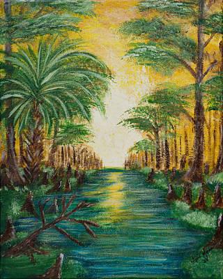 Swamp Sunrise Print by April Moran