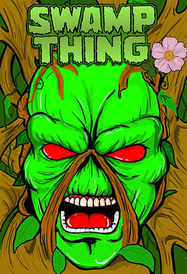 Swamp Thing Art Print by Gary Niles