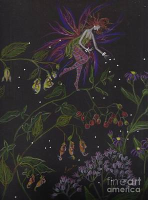 Aster Drawing - Swamp Walk by Dawn Fairies