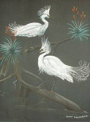 Pastel - Swampbirds by Terry Frederick