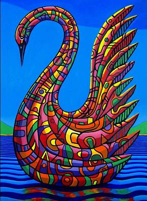 Painting - Swan Abstract by Chris Boone