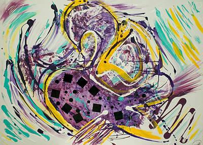 Mixed Media - Swan by Artista Elisabet
