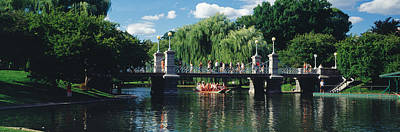 Boston Public Garden Photograph - Swan Boat In The Pond At Boston Public by Panoramic Images