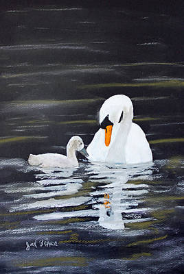 Painting - Swan Care by Jack G  Brauer