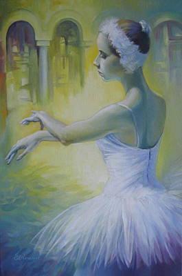Swan Dance Art Print by Elena Oleniuc