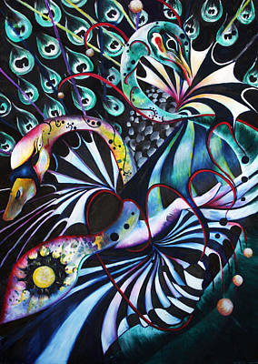 Wall Art - Painting - Swan Dive Down by Alicia Post