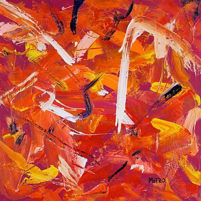 Swans... Painting - Swan Dive by Metro Meteor