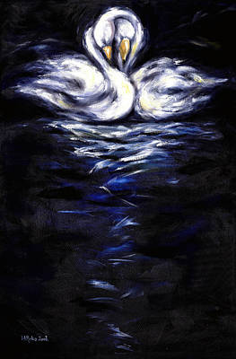 Swan Art Print by Hiroko Sakai