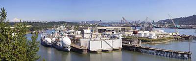 Swan Island Shipyard Panorama Art Print