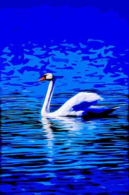 Nibs Mixed Media - Swan Lake 2 by Brian Stevens