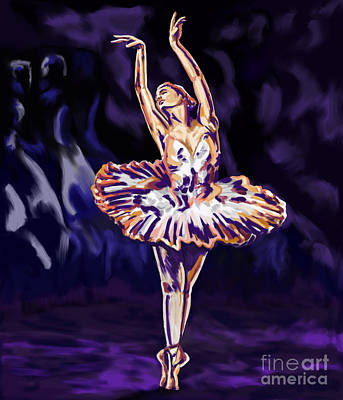 Ballet Painting - Swan Lake Impression by Tim Gilliland