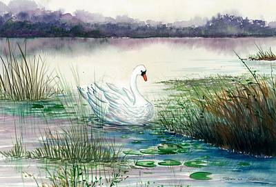 Swan Lake Painting - Swan Lake by Steven Schultz