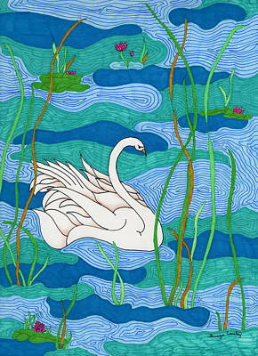 Painting - Swan Lake by Tamyra Crossley