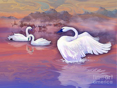 Painting - Swan Lake by Teresa Ascone