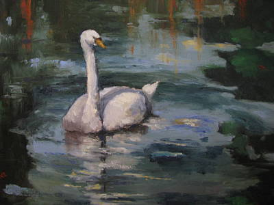Painting - Swan Reflections by Sharon Franke