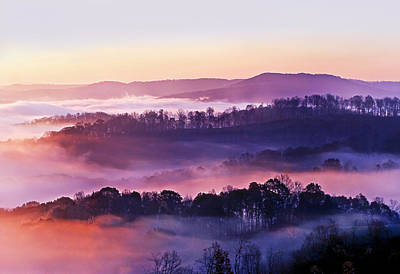 Foggy Photograph - Swan Ridge At Sunrise by Marcia Colelli