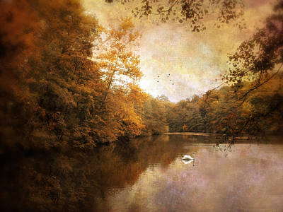 Rural Digital Art - Swan Song by Jessica Jenney