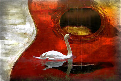 Swan Song Art Print by Wendy Mogul