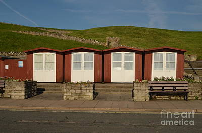 Swanage Beach Huts Art Print by Linsey Williams