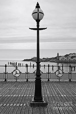 Swanage Pier Photograph - Swanage Pier Lampost by Richard Thomas