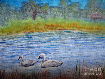 Swans Art Print by Laurianna Taylor