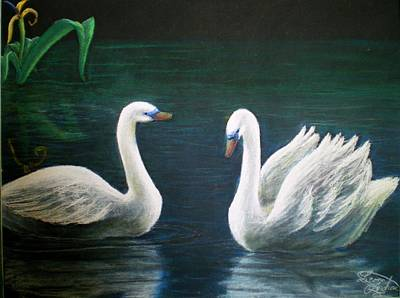 Painting - Swans by Nieve Andrea