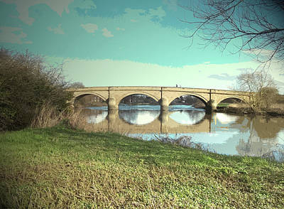 Swarkestone Bridge And River Trent, This Picture Shows Art Print by Litz Collection