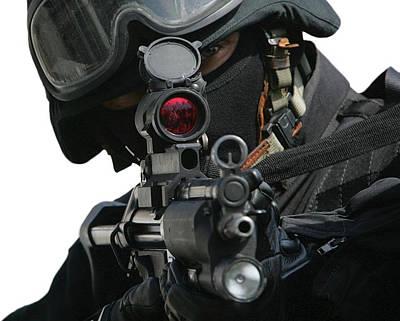 Digital Art - Swat Member by Marvin Blaine