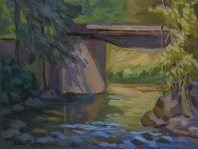 Early Spring Painting - Swauk Creek Early Spring by Diane McClary