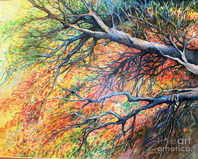 Drawing - Sway Dancing Trees by Linda Shackelford