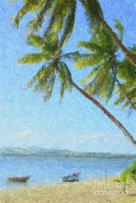 Digital Art - Swaying Palms by Diane Macdonald