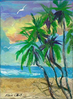 Painting - Swaying Palms by Elaine Elliott