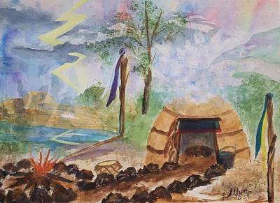 Sweat Lodge Art Print by Ellen Levinson