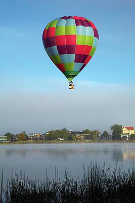 Hot Air Balloon Photograph - Sweat Pea Hot Air Balloon, Balloons by David Wall