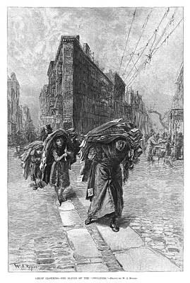 Heavy Woman Painting - Sweatshop Workers, 1890 by Granger