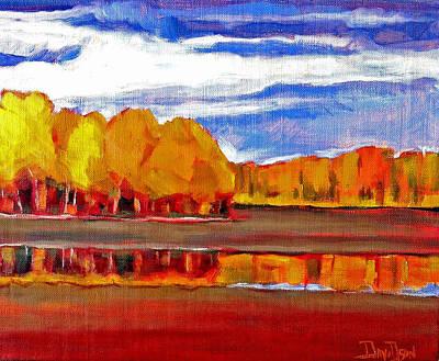 Painting - Sweden Landscape by Kevin Davidson