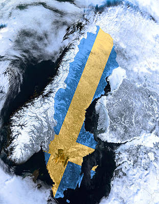 Sweden Pride Art Print by Daniel Hagerman