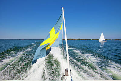Sweden - Sailing In Stockholm Art Print by Panoramic Images